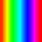 Stripes001 - Rainbow  by Rupert Russell