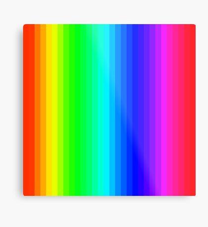 Stripes001 - Rainbow  Metal Print