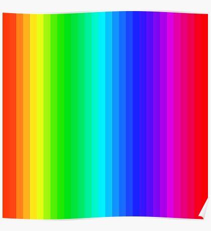 Stripes001 - Rainbow  Poster