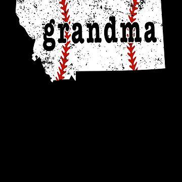 Grandma Baseball Tee Montana Softball Grandma Tshirts by shoppzee