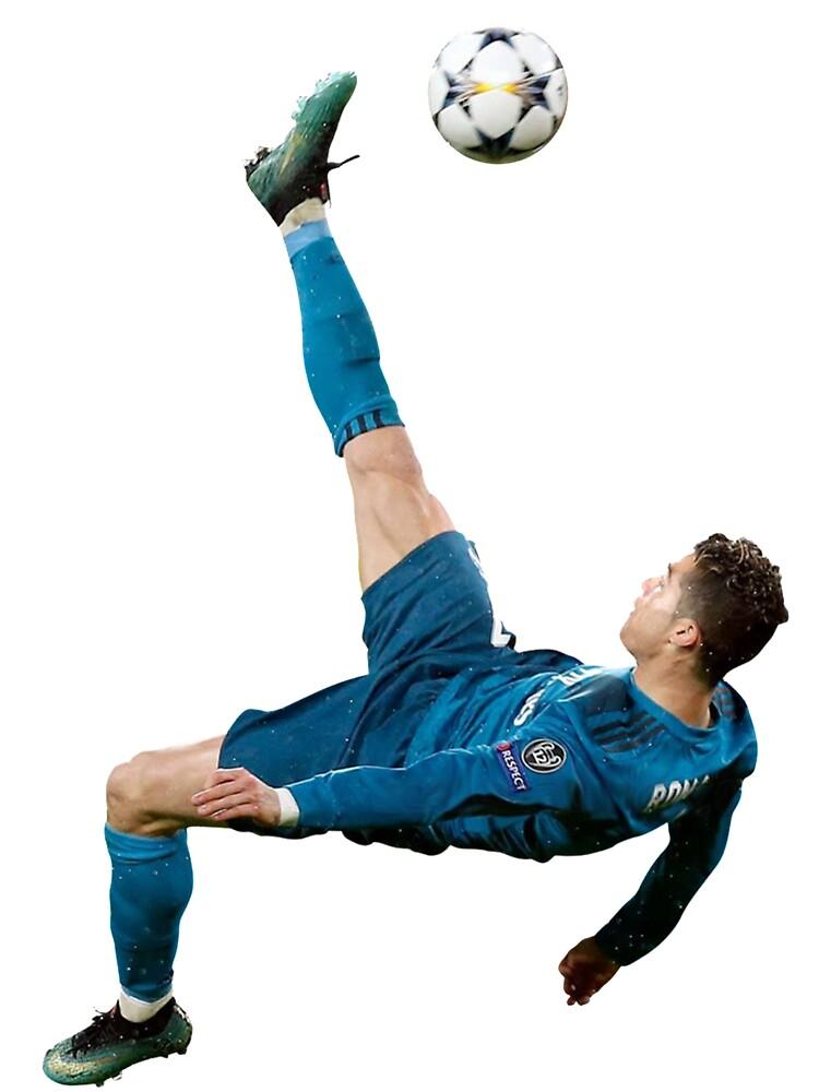 Cristiano Ronaldo Bicycle Kick Kids T Shirt By Fiveteeshirt Redbubble