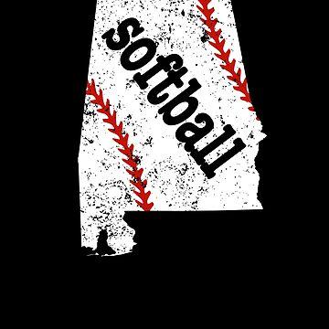 Alabama Womens Softball College Softball Shirt by shoppzee