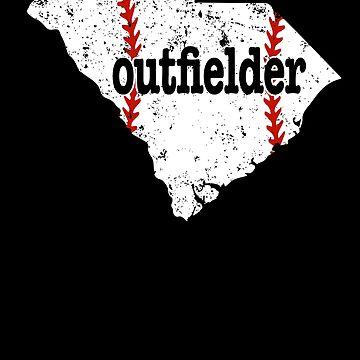 South Carolina Softball Outfielder Baseball Outfielder by shoppzee