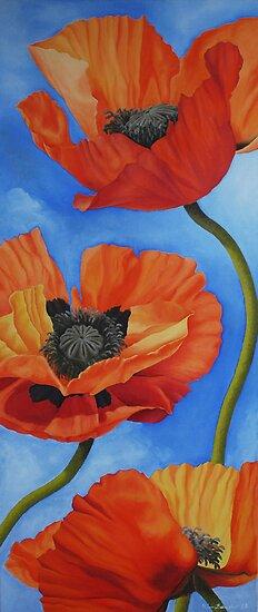 Sky full of Poppies by Kim Bender