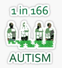 Autism 1 in 166 T-shirt Sticker