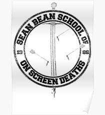 Sean Bean School of On Screen Deaths Poster