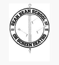 Sean Bean School of On Screen Deaths Photographic Print