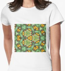 Butterfly pattern background II Women's Fitted T-Shirt