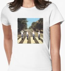 Walmart Yodeling Abbey Road Women's Fitted T-Shirt