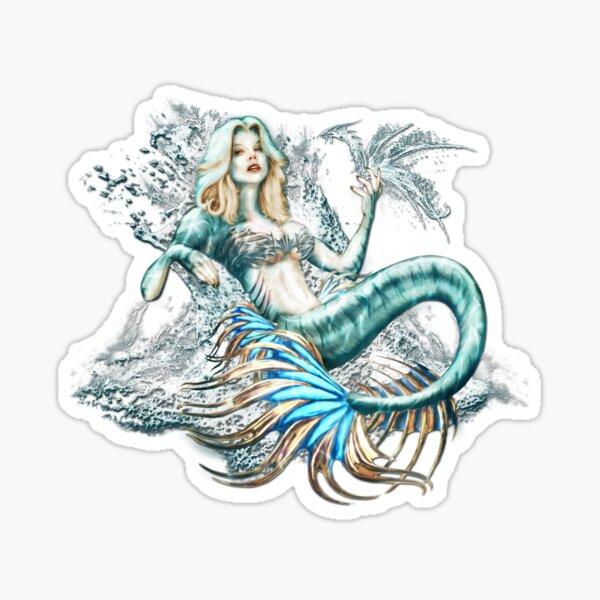 Tempest - Mermaid with Sea Dragon Sticker
