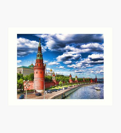 View at the Kremlin, Moscow, Russia Art Print