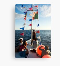 Kids on deck Metal Print