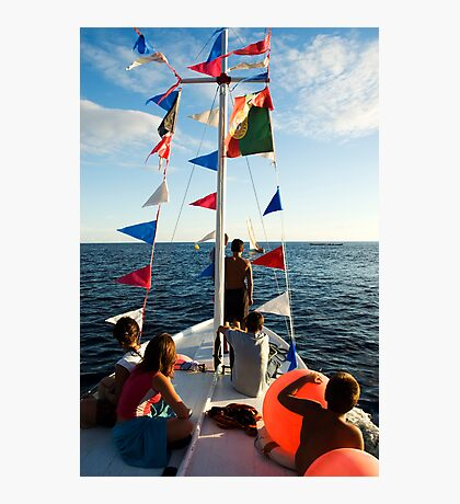 Kids on deck Photographic Print