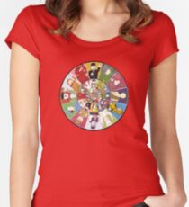 """Mr Benn. """"As if by magic, the Shopkeeper appeared."""" Women's Fitted Scoop T-Shirt"""