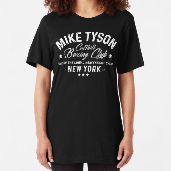 Mike Tyson - Catskill Boxing Club - White Slim Fit T-Shirt