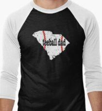 South Carolina Baseball Tee Ball Dad Coach Shirt Men's Baseball ¾ T-Shirt
