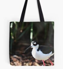 Black-Necked Stilt Bird Tote Bag