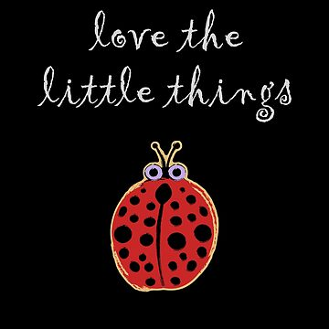 Love the Little Things Ladybug by evisionarts