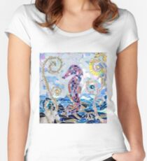 Seahorse Mosaic Fitted Scoop T-Shirt