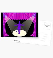 Der Künstler auf der Bühne Postkarten