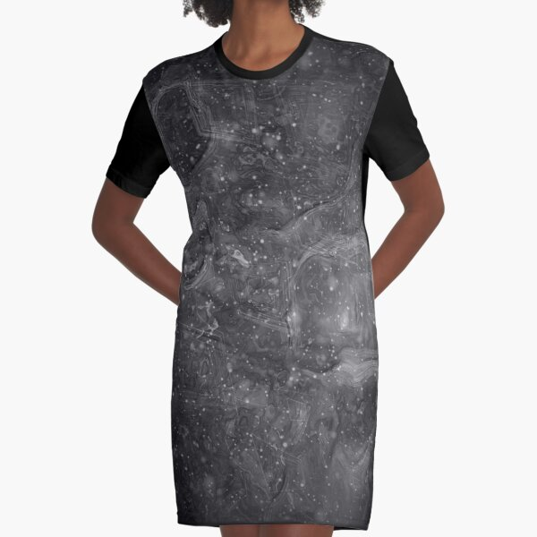 The Atlas of Dreams - Plate 37 (b&w) Graphic T-Shirt Dress