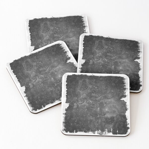 The Atlas of Dreams - Plate 37 (b&w) Coasters (Set of 4)
