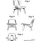 Iconic Eames LCW Molded Plywood Chair Patent Drawings by Framerkat