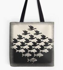 Sky and Water I - Maurits Cornelis Escher Tote Bag