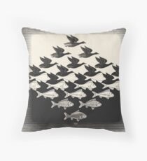 Sky and Water I - Maurits Cornelis Escher Throw Pillow