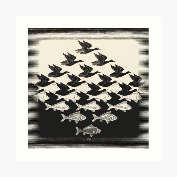 Cielo y agua I - Maurits Cornelis Escher Lámina artística