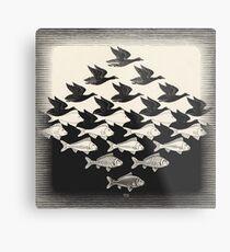 Himmel und Wasser I - Maurits Cornelis Escher Metallbild