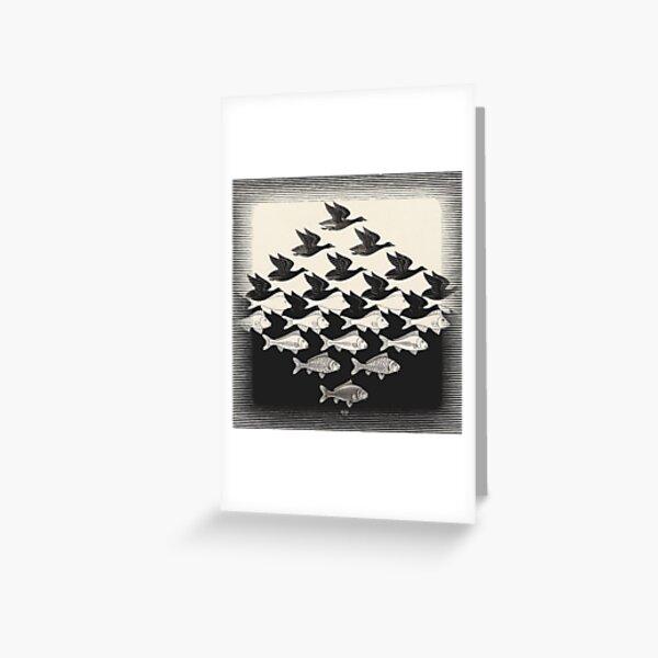 Cielo y agua I - Maurits Cornelis Escher Tarjetas de felicitación