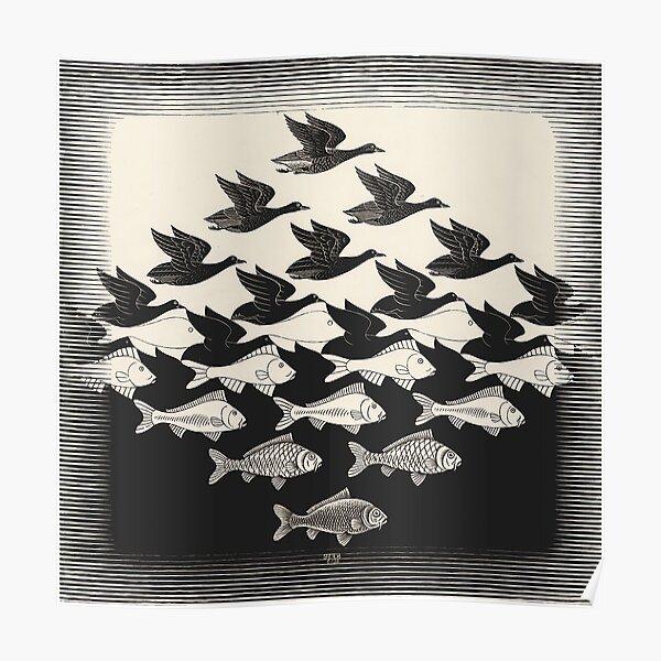 Ciel et eau I - Maurits Cornelis Escher Poster