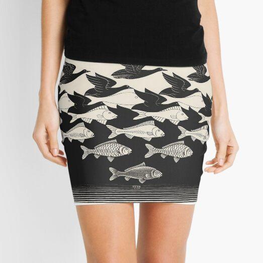 Sky and Water I - Maurits Cornelis Escher Mini Skirt