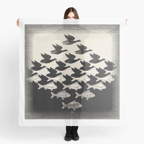 Sky and Water I - Maurits Cornelis Escher Scarf