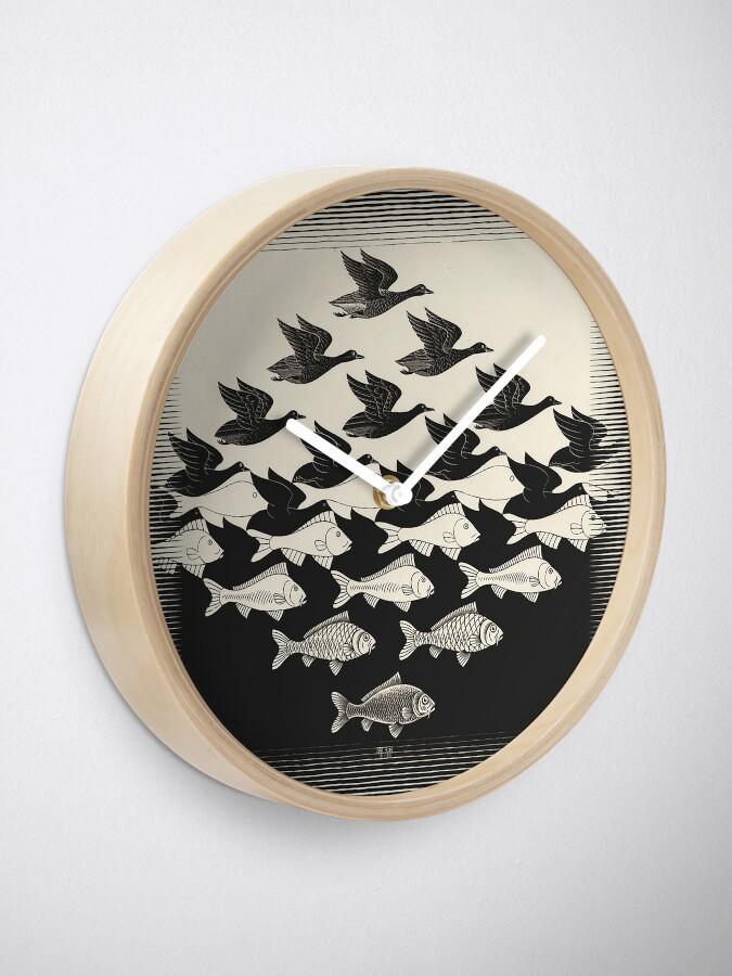 Alternative Ansicht von Himmel und Wasser I - Maurits Cornelis Escher Uhr