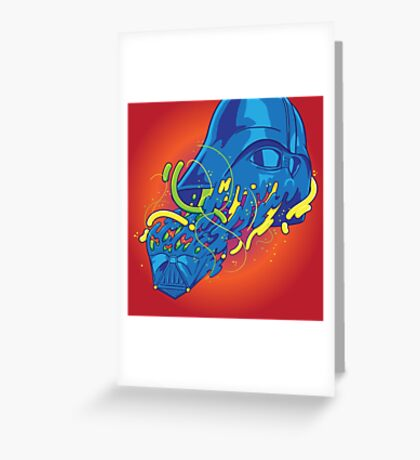 Happily melting Darth Vader Greeting Card