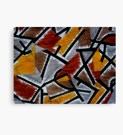 Abstract Leger Canvas Print