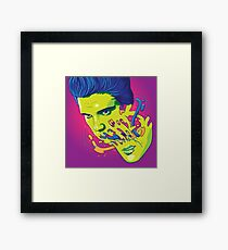 Happily melting Elvis Framed Print