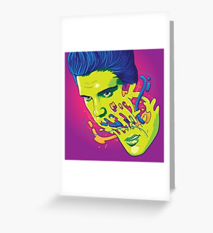 Happily melting Elvis Greeting Card