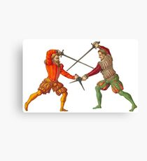 A Gentleman's Duel Canvas Print