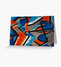 Abstract Leger no.2 Greeting Card