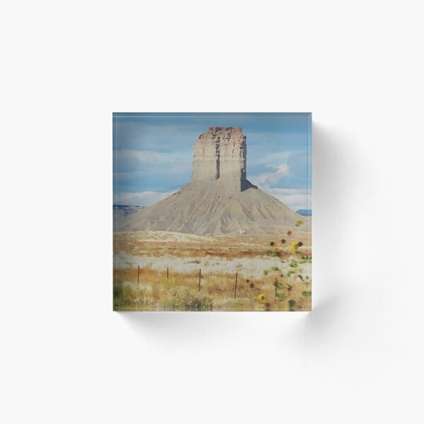 Monument Valley Tower Acrylic Block
