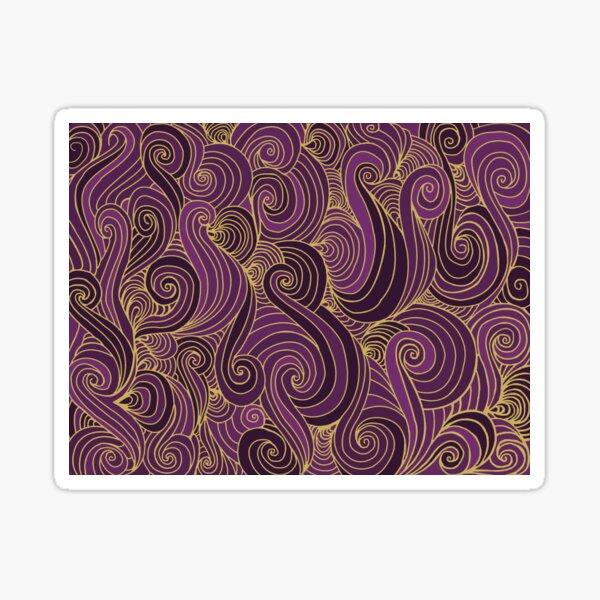 Wave Pattern - Gold and Purple Sticker