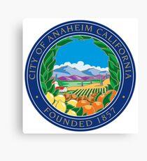 Seal of Anaheim  Canvas Print
