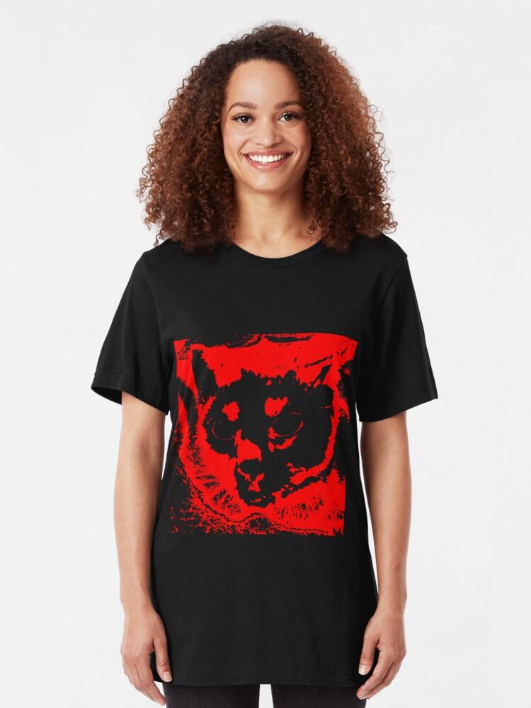 Alternate view of Black Cat 3 Slim Fit T-Shirt