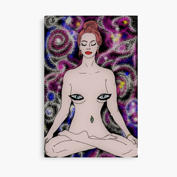 Woman In The Cosmos Canvas Print
