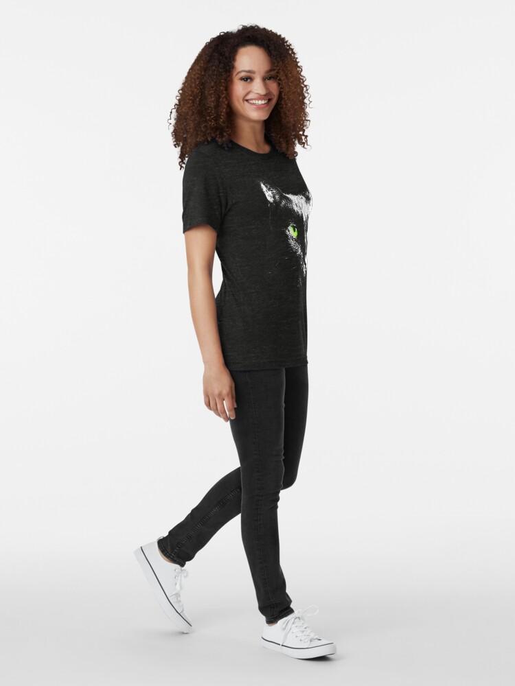 Alternate view of Black Cat 4 Tri-blend T-Shirt