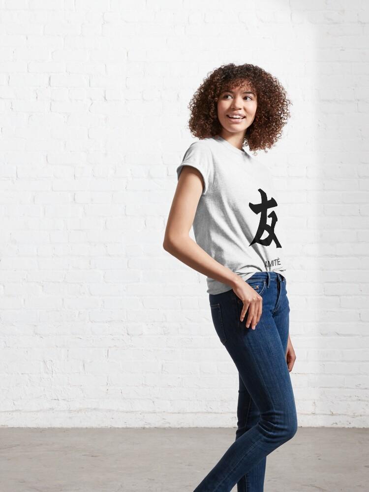 T-shirt classique ''Tshirt Kanji Amitié': autre vue