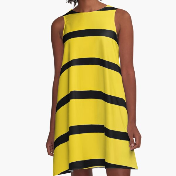 Queen Bee pattern A-Line Dress